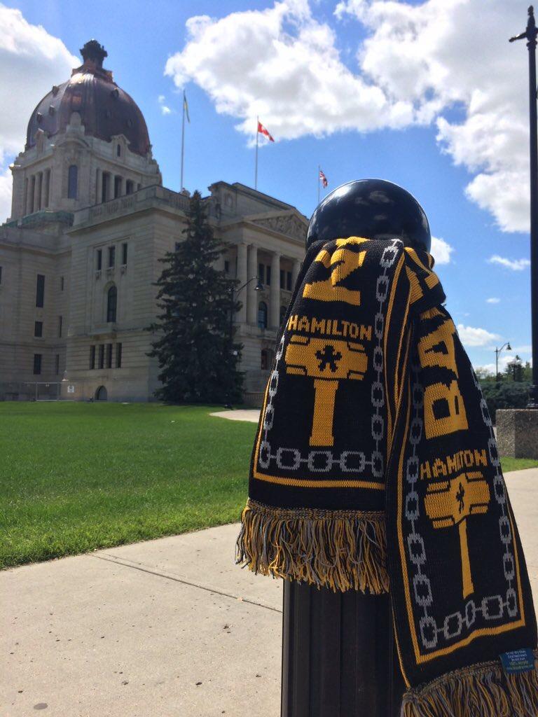 Outside the Saskatchewan Legislature